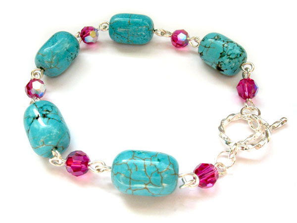 Howlite and Crystal Bracelet