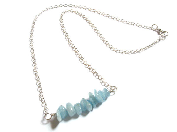 Aquamarine Necklace and Earrings