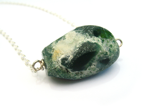 Large Green Agate Necklace