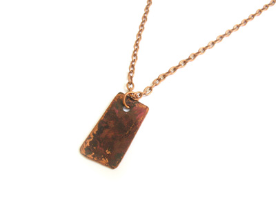 Flame Colored Copper Necklace